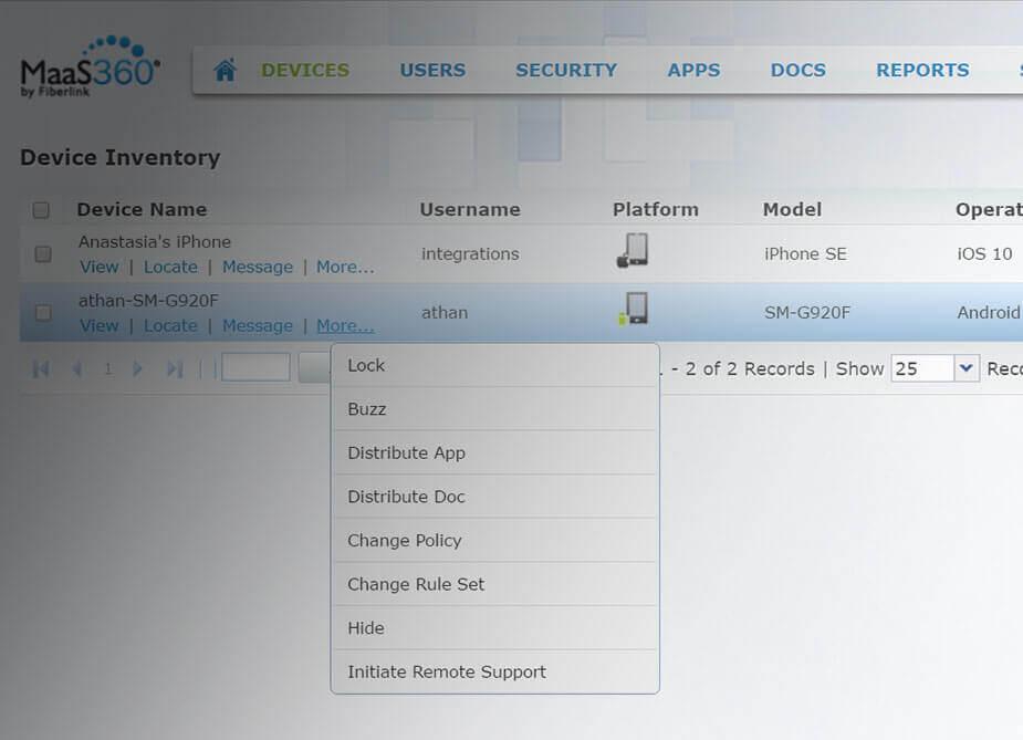 Integrazione TeamViewer per IBM MaaS360