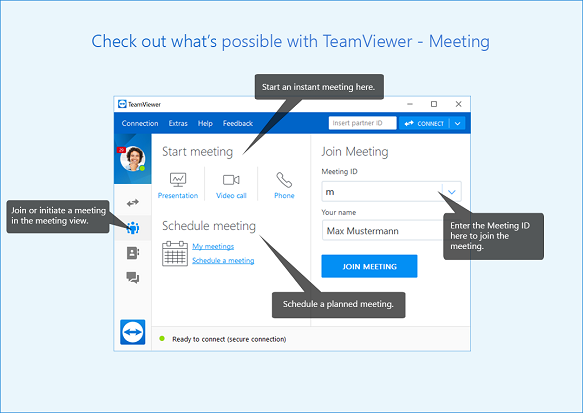 How to hold TeamViewer online meeting