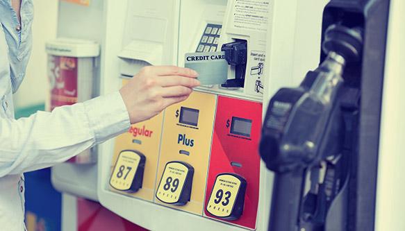 Gas pump POS