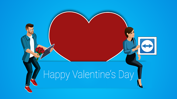 Valentine's Day with TeamViewer