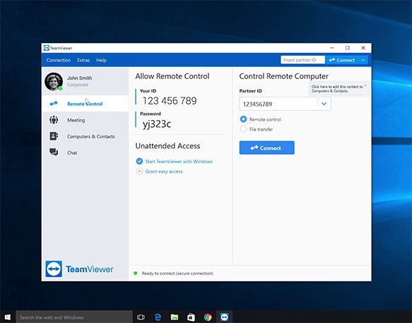TeamViewer 14 screenshot