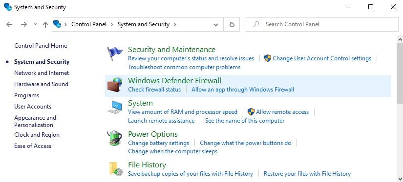 how to turn on windows firewall