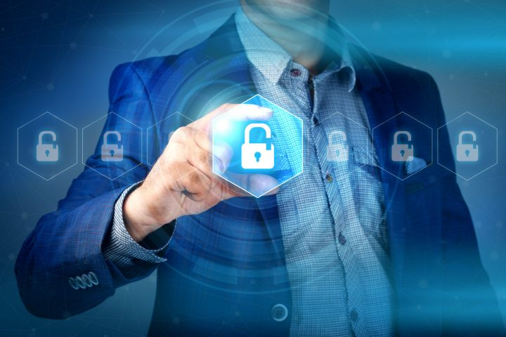 businessman using TeamViewer as IoT security solutions