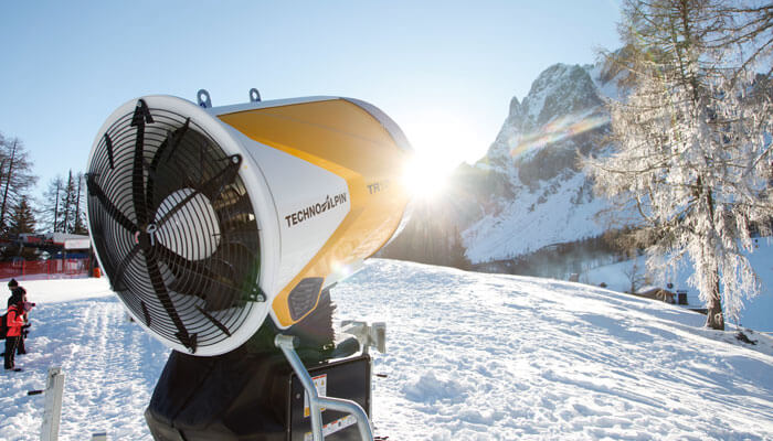 Snow cannon from TechnoAlpin using TeamViewer remote support