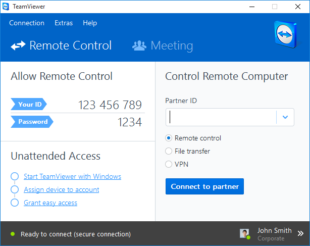 Cài đặt TeamViewer Host trực tiếp thông qua QuickSupport